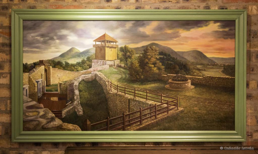 Georgina festménye a solymári várról
