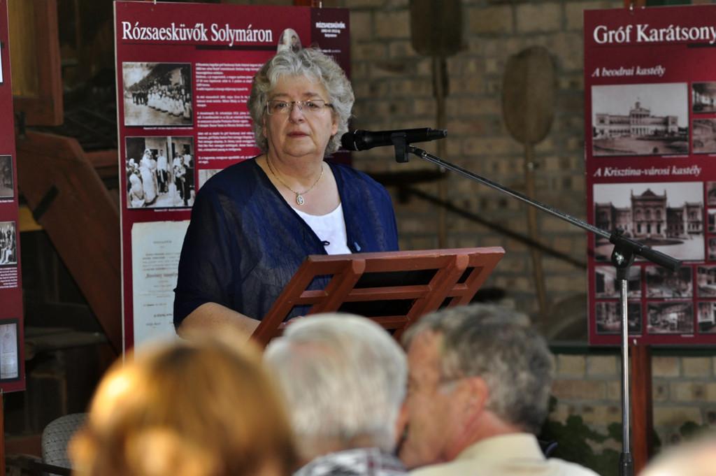 Jablonkay Mária, a helytörténeti gyűjtemény vezetője