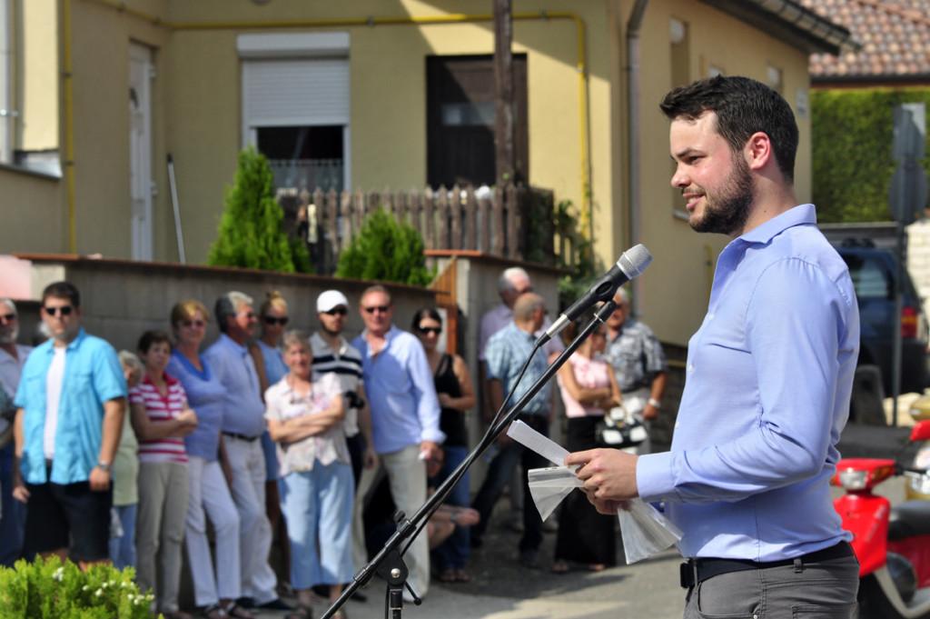 Pitz Dániel, az emlékművet állító Szépsolymár Kulturális és Értékvédelmi Alapítvány elnöke